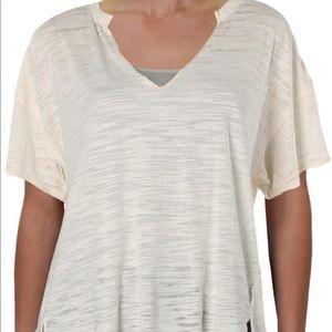 nwot free people split neck t-shirt
